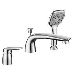 PRAHA new смеситель для ванны врезной, на три отверстия, хром, 35 мм (ванная комната)