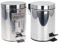Cos pentru gunoi cu pedala 3l, H24.5cm, D16cm,metal