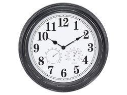 Часы настенные круглые 40cm, H5cm, термометр и гигрометр