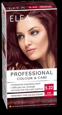 Краска для волос,SOLVEX Elea, 138 мл., 5.22 - Тёмный махагон