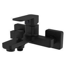 BILOVEC смеситель для ванны, черный мат, 35 мм (ванная)