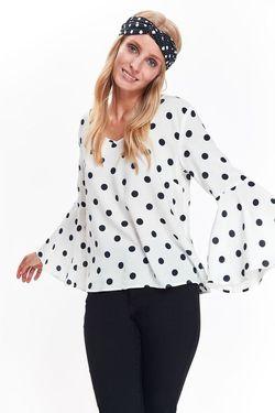 Блуза TOP SECRET Белая в горошек sbd0920
