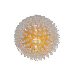 Мячик с пупырышками желтый 9 см