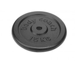 Диск металлический прорезиненный 15 кг d=30 мм (4210)