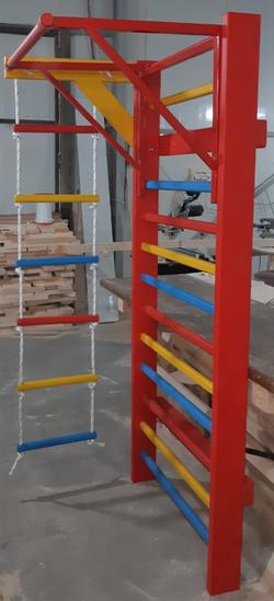Spalier gimnastic colorat multifunctional 245х85 cm, 15 bare (3667)