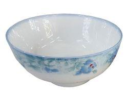 Салатница D15cm, голубые цветы, керамика
