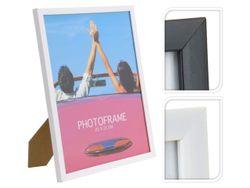 Rama foto din lemn 20X25cm, alba/neagra