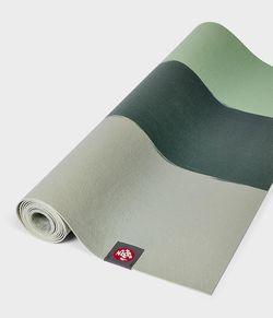 Mat pentru yoga Manduka eKO lite green ash stripe -4mm