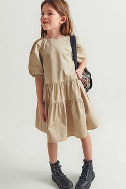 Платье ZARA Бежевый 1067/356/710