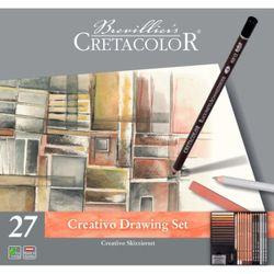 Set de bază, 27 articol,  Creativo Cretacolor