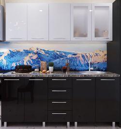Bucătărie Bafimob Lena (High Gloss) 1.6m Black/White
