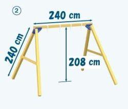 Structura pentru Leagan Dublu din Lemn PP-46