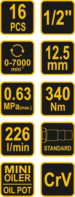 Mașină de înșurubat pneumatică Vorel 81101