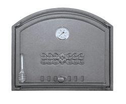 Дверца чугунная глухая с термометром правая DCHS2T