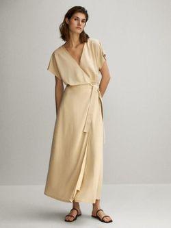 Платье Massimo Dutti Беж 6629/882/710