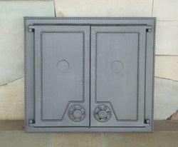 Дверца чугунная глухая двустворчатая DW6