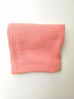 Одеяло пледик муслин 4-х слойный размер 100*110 персиковый