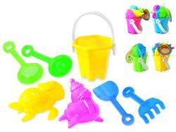 Набор игрушек для песка в ведерке 7ед, 17X9cm