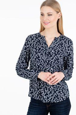 Блуза TOM TAILOR Темно синий с принтом