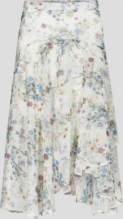 Юбка ORSAY Белый с цветами