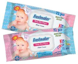 Салфетки влажные Freshmaker KISS Collection Baby 72