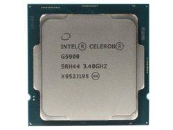 Процессор Intel Celeron G5905 3,5 ГГц (2 ядра / 2 потока, 4 МБ, S1200, 14-нм, встроенная графика UHD Graphics 610, 58 Вт) Лоток