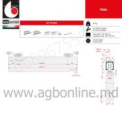 Комплект роликов для раздвижных дверей 80 кг Terno Scorrevoli