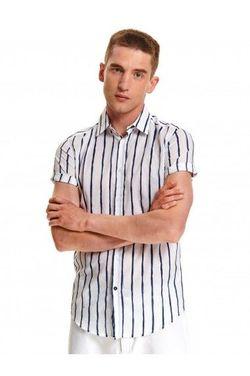 Рубашка TOP SECRET Белый в синюю полоску sks1058bi.