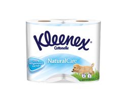 Hârtie igienică Kleenex Natural White, 4 role, 3 straturi