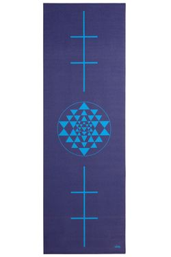 Covoras pentru yoga Leela Collection Yantra blue