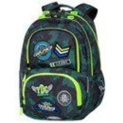 Ghiozdan cu buzunar termic Coolpack Spiner Termic Badges B Green (41x30x13)