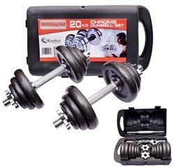 Набор дисков и грифов 20 кг Cast Iron Dumbell Set (5512)