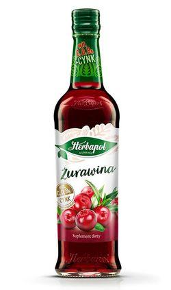 Сироп Herbapol Raspberry with Cranberry, 420 мл