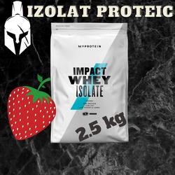 Proteina Pură (Izolată) din Zer - Impact Whey Isolate - Căpșună Naturală - 2.5 KG