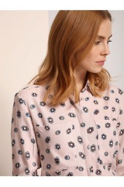 Bluza TOP SECRET Roz pastelat cu imprimeu SKL2255RO