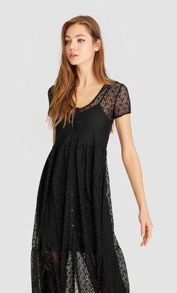 Платье Stradivarius Чёрный 6273/624/001