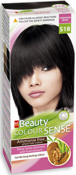 Краска для волос,SOLVEX MM Beauty Sense, 125 мл., S18 - Чёрная ночь