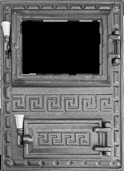 Ușă GREC cu sticlă pentru sobă