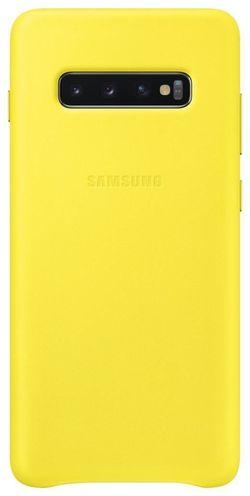 купить Чехол для моб.устройства Samsung EF-VG975 Leather Cover S10+ Yellow в Кишинёве
