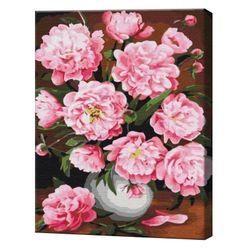 Bujori înfloriți, 40х50 cm, pictură pe numere  BS30590