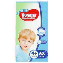 Scutece Huggies Ultra Comfort pentru băieţel 4+ (10-16 kg), 68 buc.