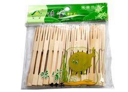 Set betisoare pentru tartine 65buc, bambus,in pachet