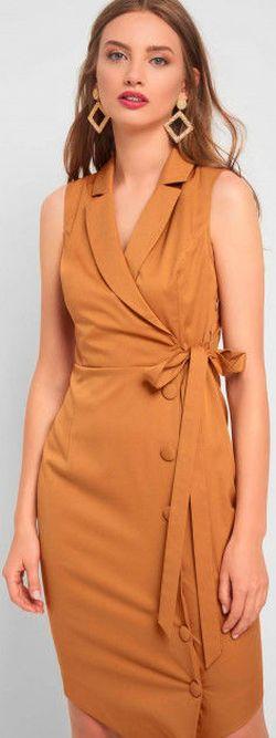 Платье ORSAY Горчичный 410168 orsay