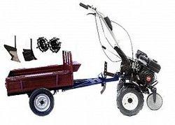 Набор мотоблок TECHNOWORKER HB 700S+Прицеп RK500 + плуг простой + плуг регулируемый + металлические колеса 4*8