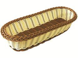 Корзинка для хлеба плетеная овальная 27Х11Х6cm, удлиненная