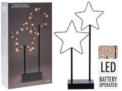 Световая фигура настольная Stars LED,40X22X7cm, металл, черн