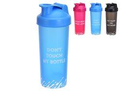 Бутылка питьевая 0.7l, 26cm, пластик, 3цвета