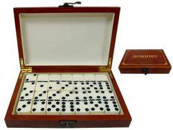 Игра домино в подарочной деревянной коробке 19X12.5X4cm