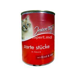 Jeden Tag hrana pentru pisici vita şi ficat 415 gr