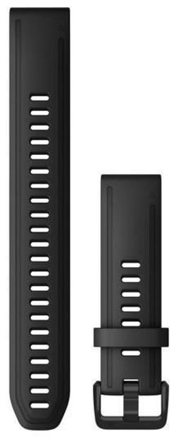 купить Аксессуар для моб. устройства Garmin QuickFit fenix 6s 20mm Long Strap,Black Silicone в Кишинёве